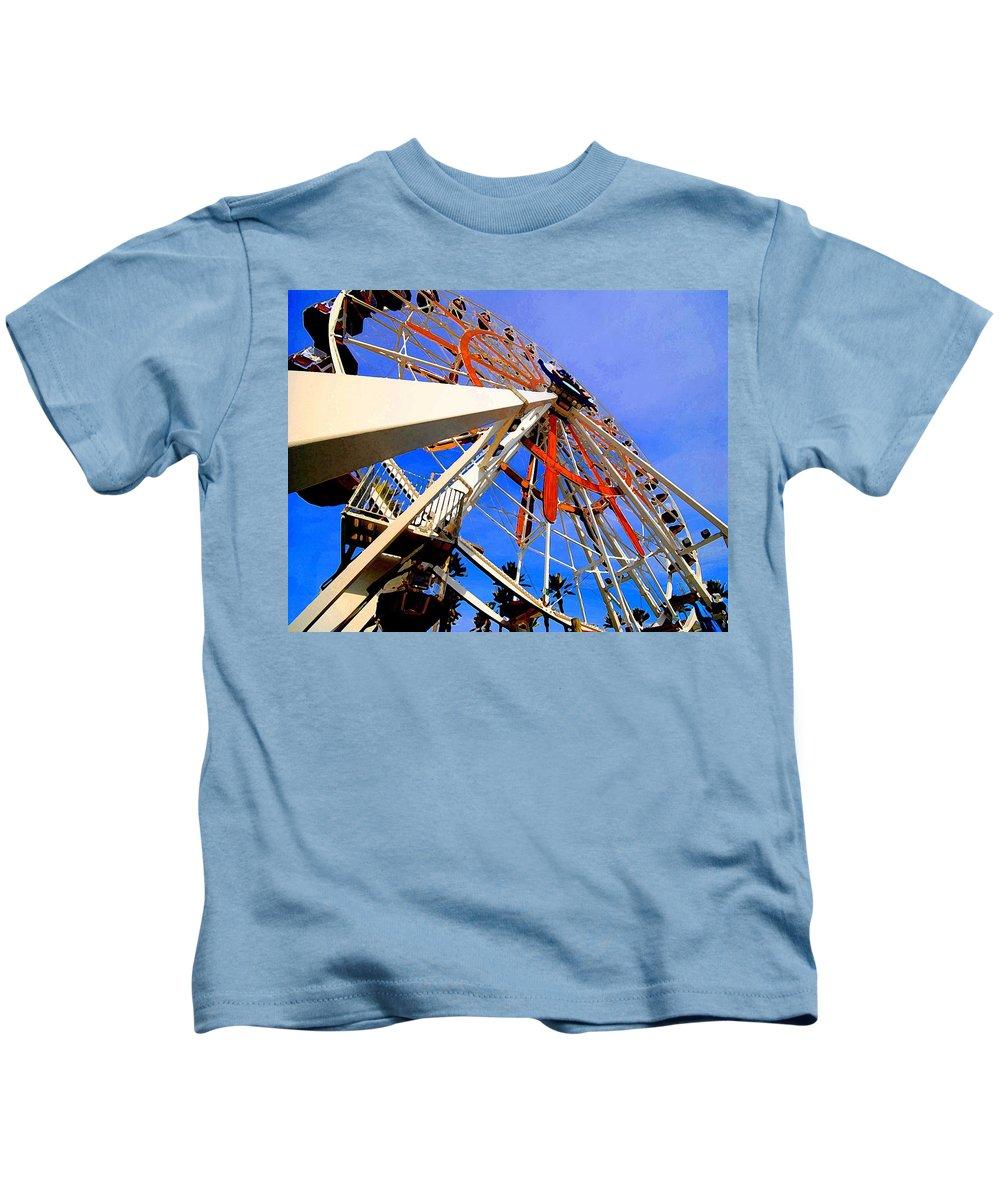 Ferris Wheel Kids T-Shirt featuring the painting Ferris Wheel by Michael Thomas