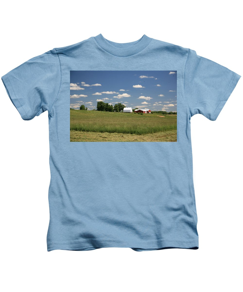 Farm Kids T-Shirt featuring the photograph First Cutting by Robert Pearson