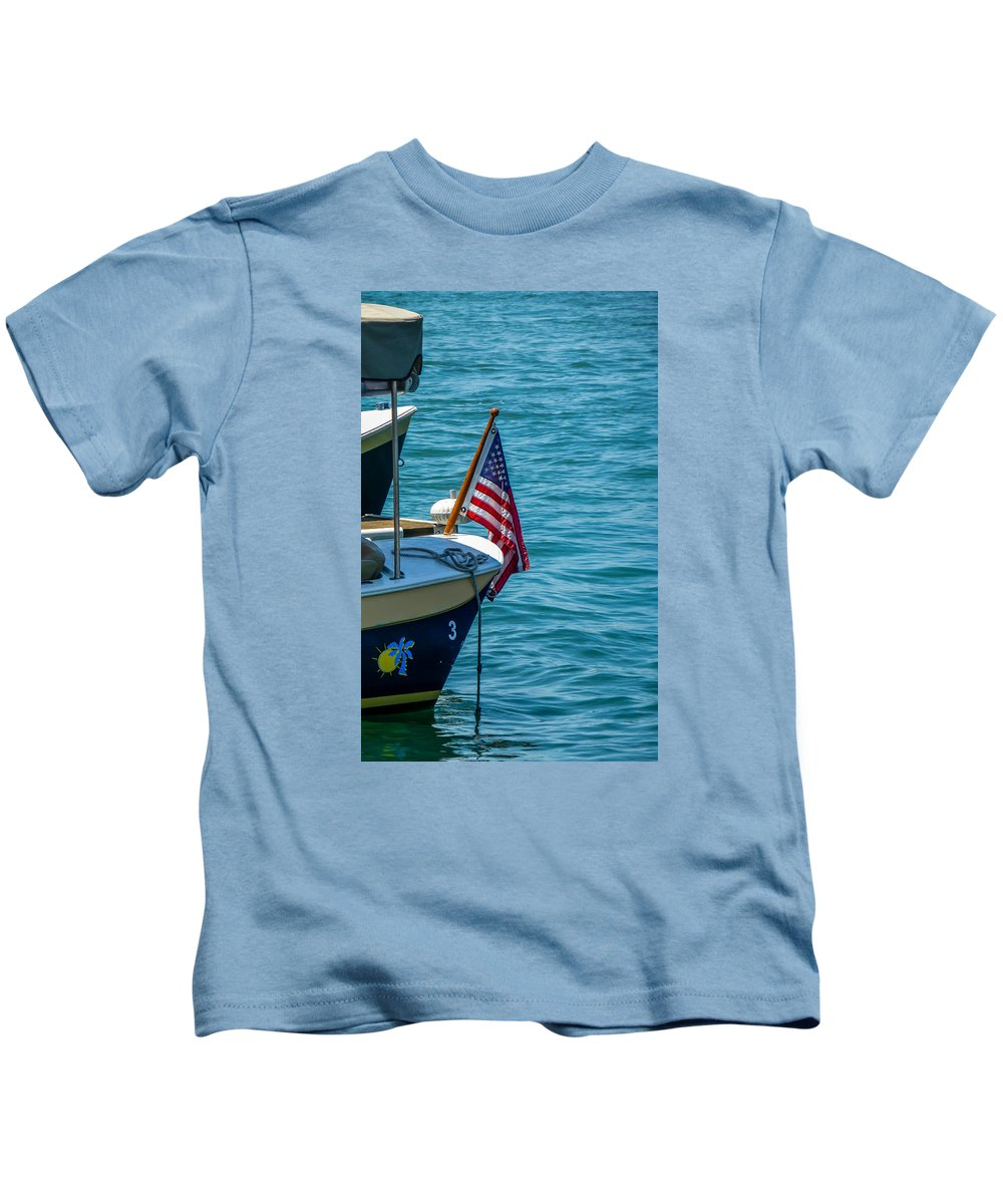 4th Of July Kids T-Shirt featuring the photograph Flagstaff by Pamela Newcomb