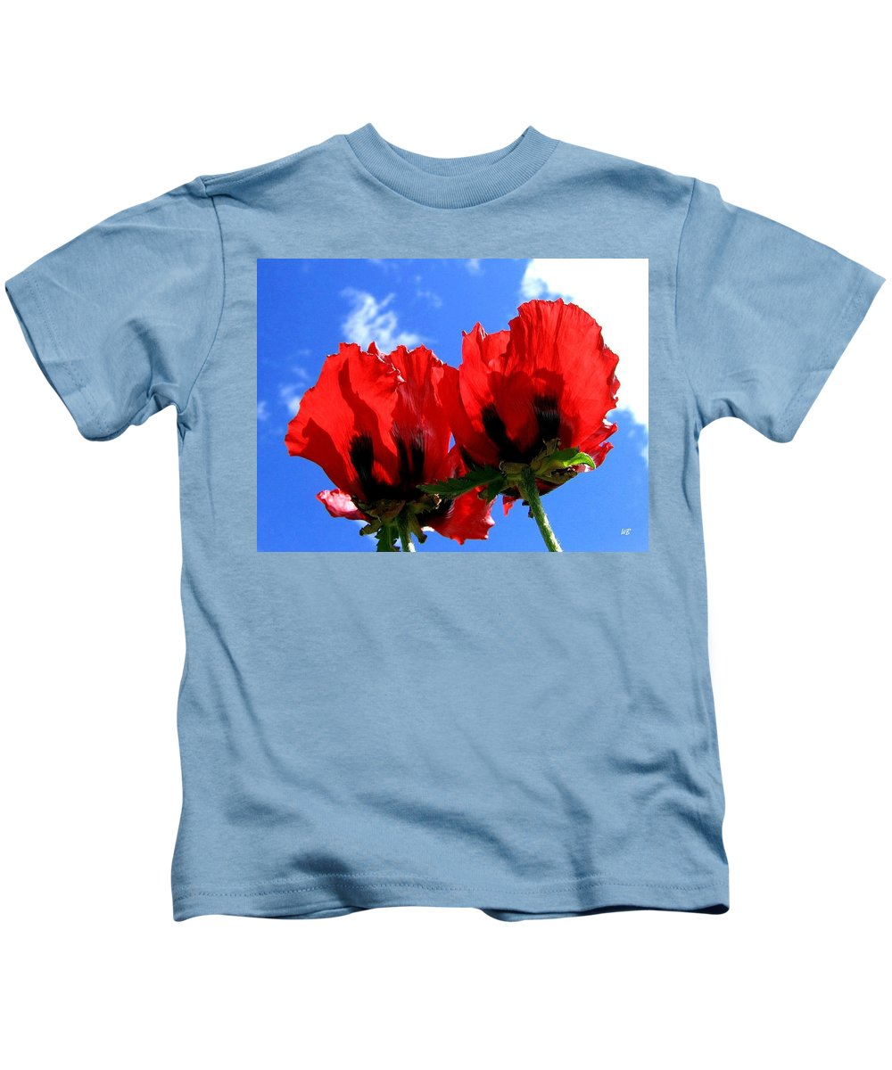 Blue Kids T-Shirt featuring the photograph Flaming Skies by Will Borden
