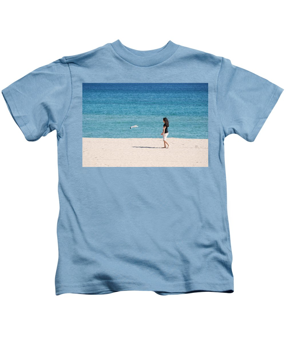 Ocean Kids T-Shirt featuring the photograph Flight Of The Angel by Rob Hans