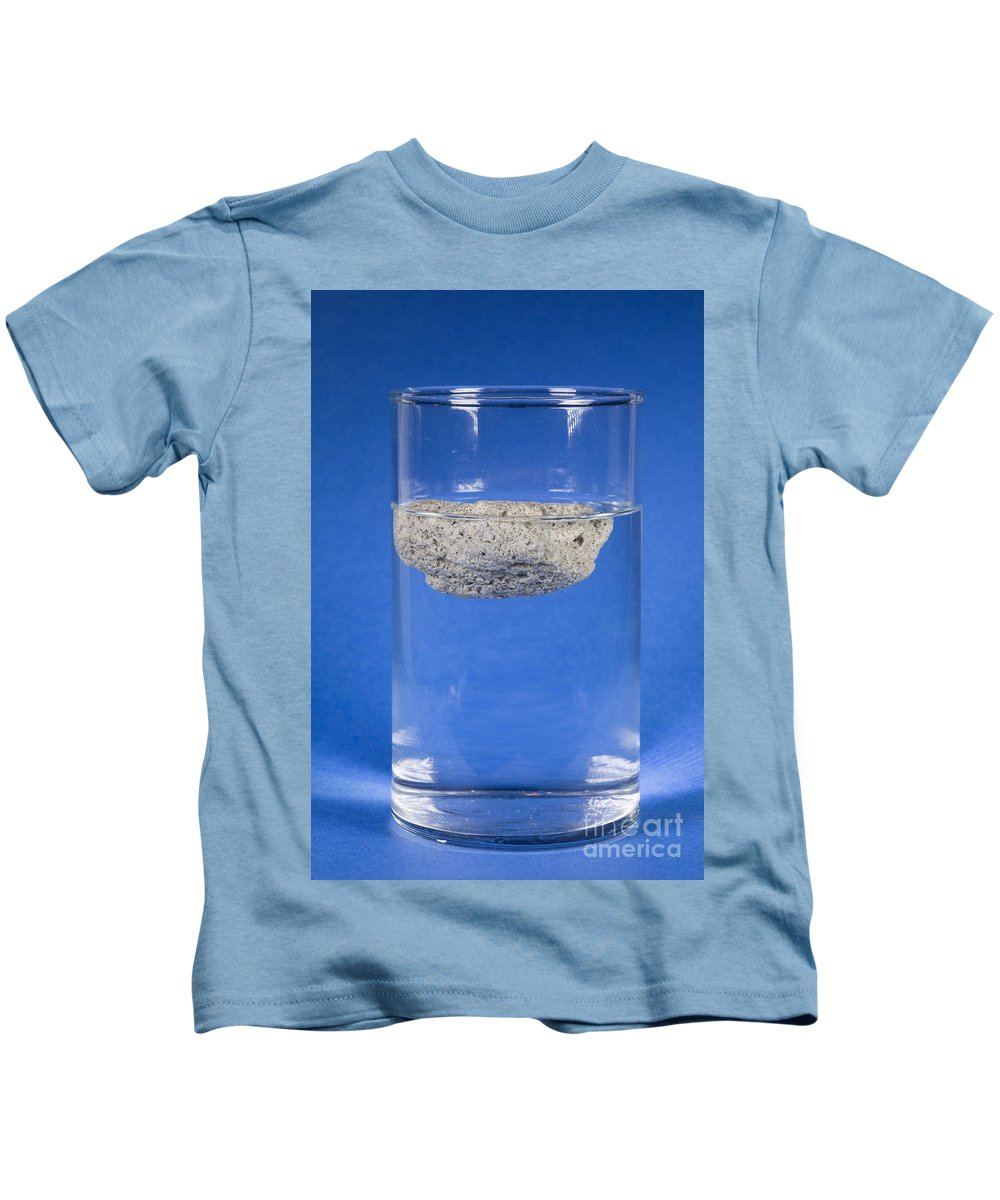 Igneous Rock Kids T-Shirt featuring the photograph Floating Pumice by Ted Kinsman