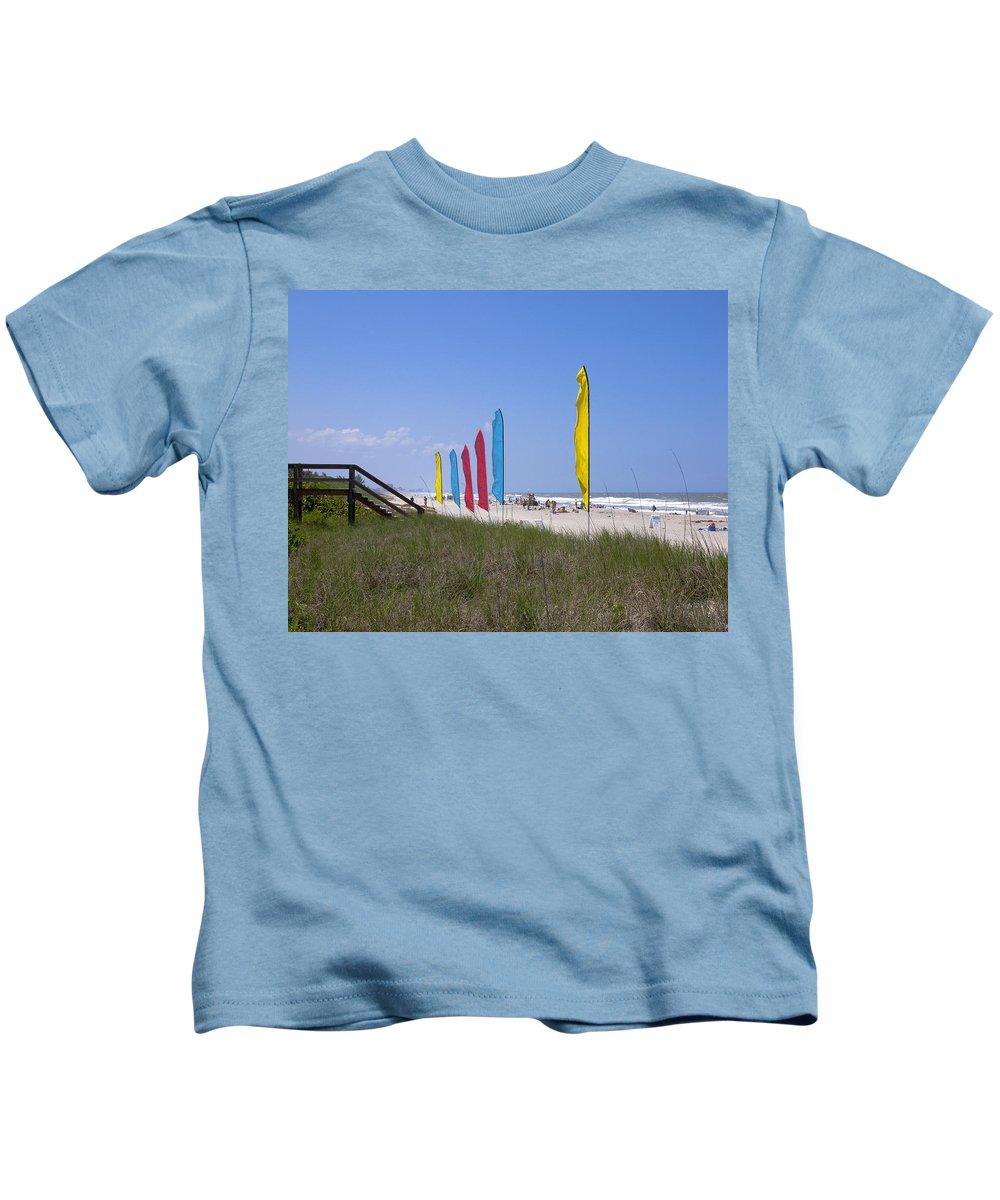 Florida Kids T-Shirt featuring the photograph Florida Beach On The Atlantic by Allan Hughes