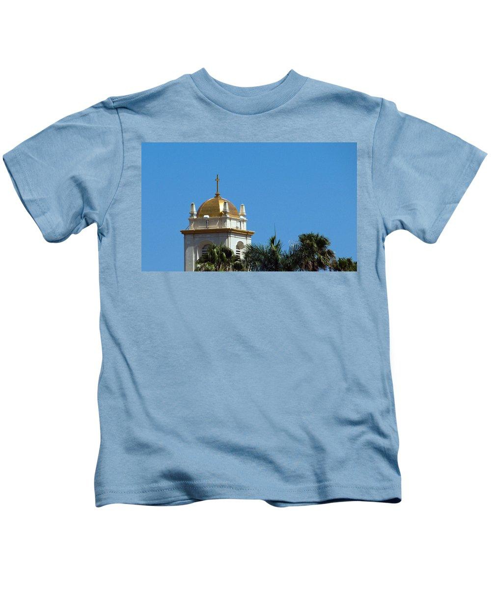Lake Kids T-Shirt featuring the photograph Florida Church by Allan Hughes