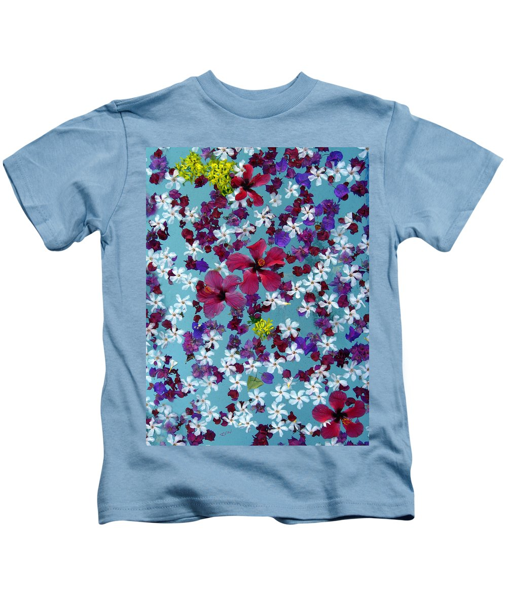 Flowers Kids T-Shirt featuring the photograph Flower Fantasy Guatemala by Kurt Van Wagner
