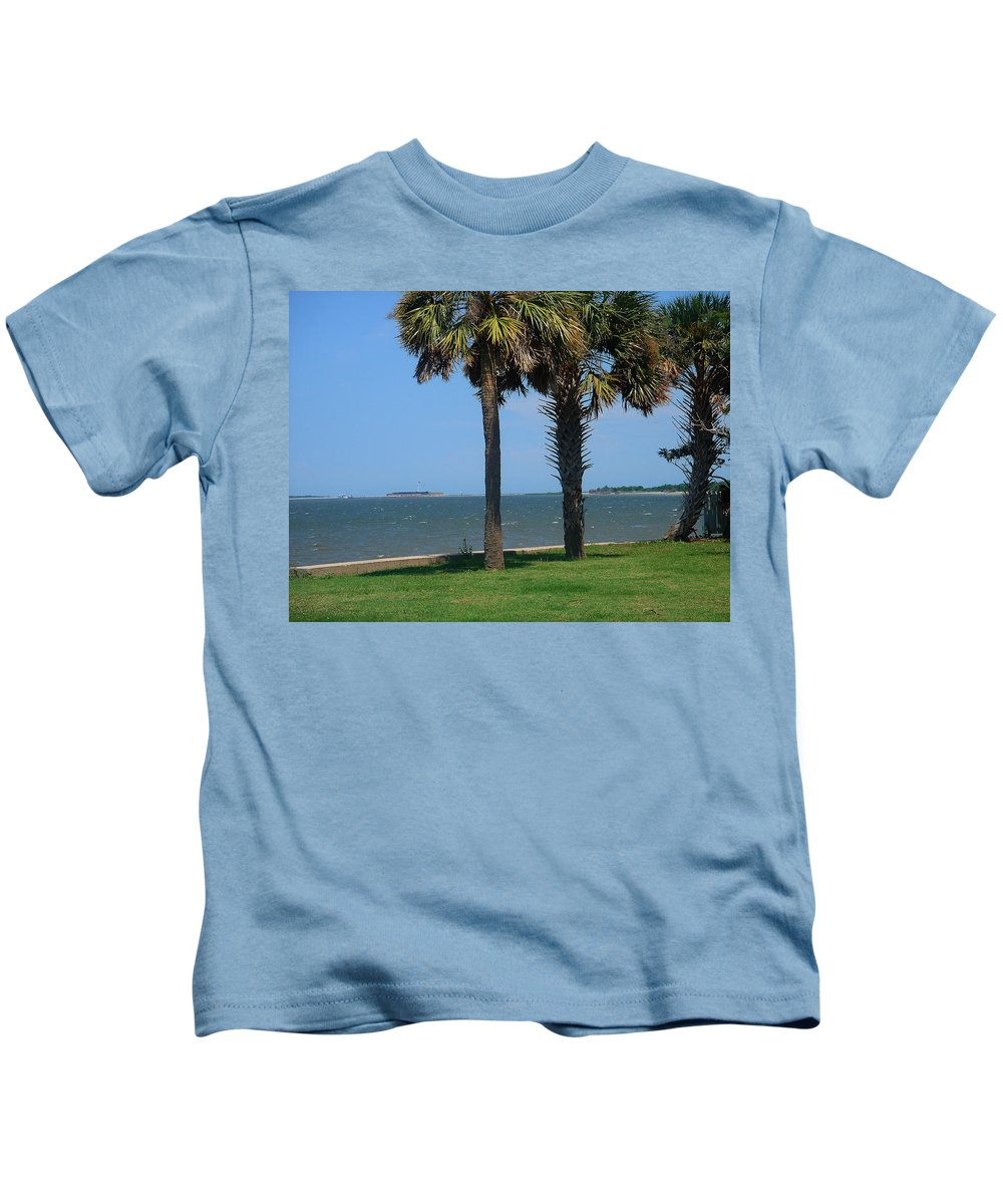 Photography Kids T-Shirt featuring the photograph Fort Sumter Charleston Sc by Susanne Van Hulst