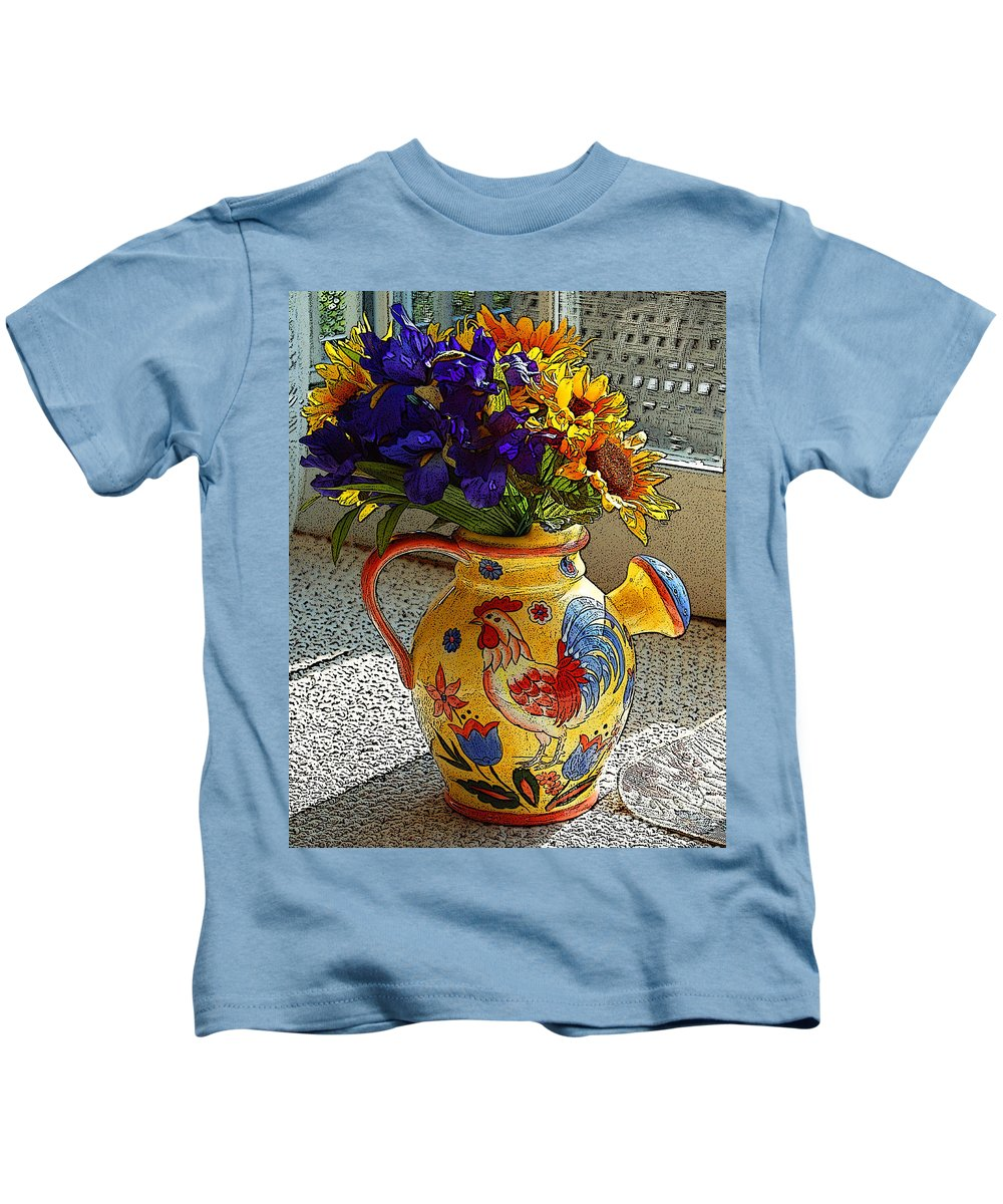 Diane Berry Kids T-Shirt featuring the photograph French Country by Diane E Berry