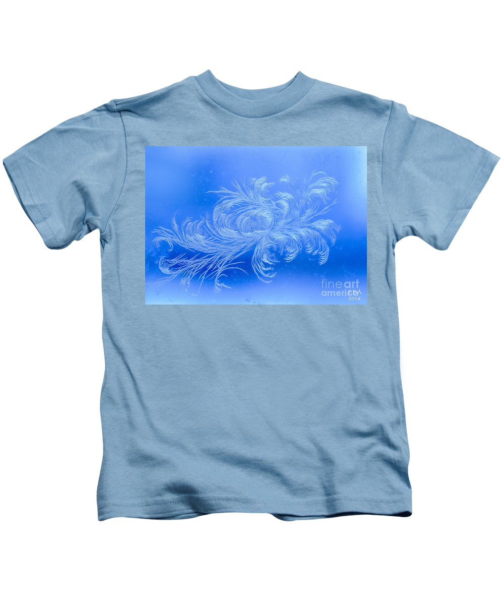Frost Kids T-Shirt featuring the photograph Frosty Flower by Elaine Berger