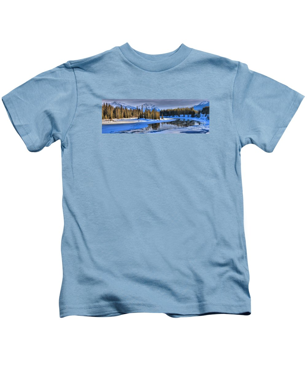 Kids T-Shirt featuring the photograph Frozen Jasper Paradise by Adam Jewell