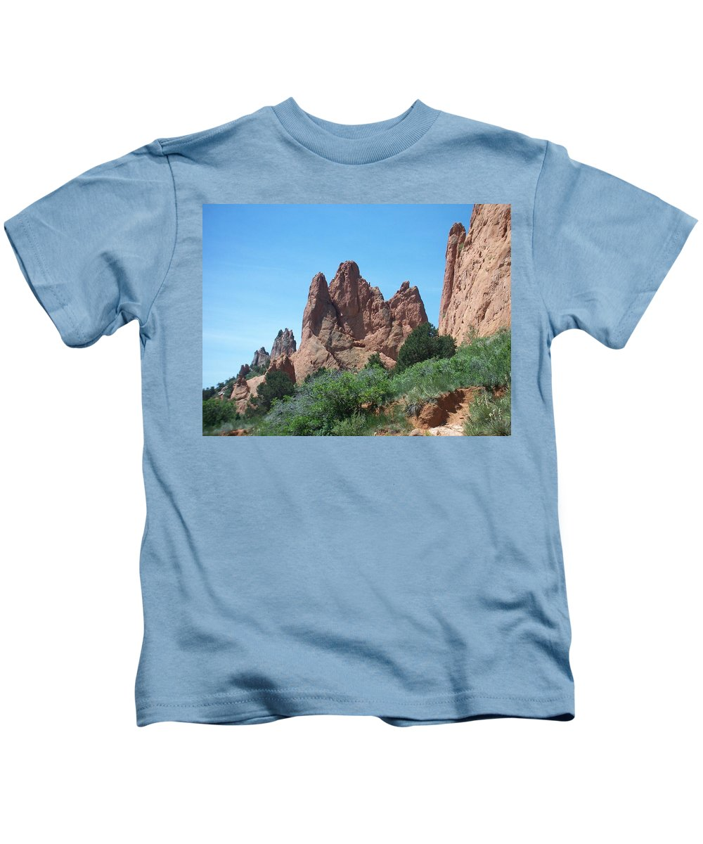 Colorado Kids T-Shirt featuring the photograph Garden Of The Gods 2 by Anita Burgermeister
