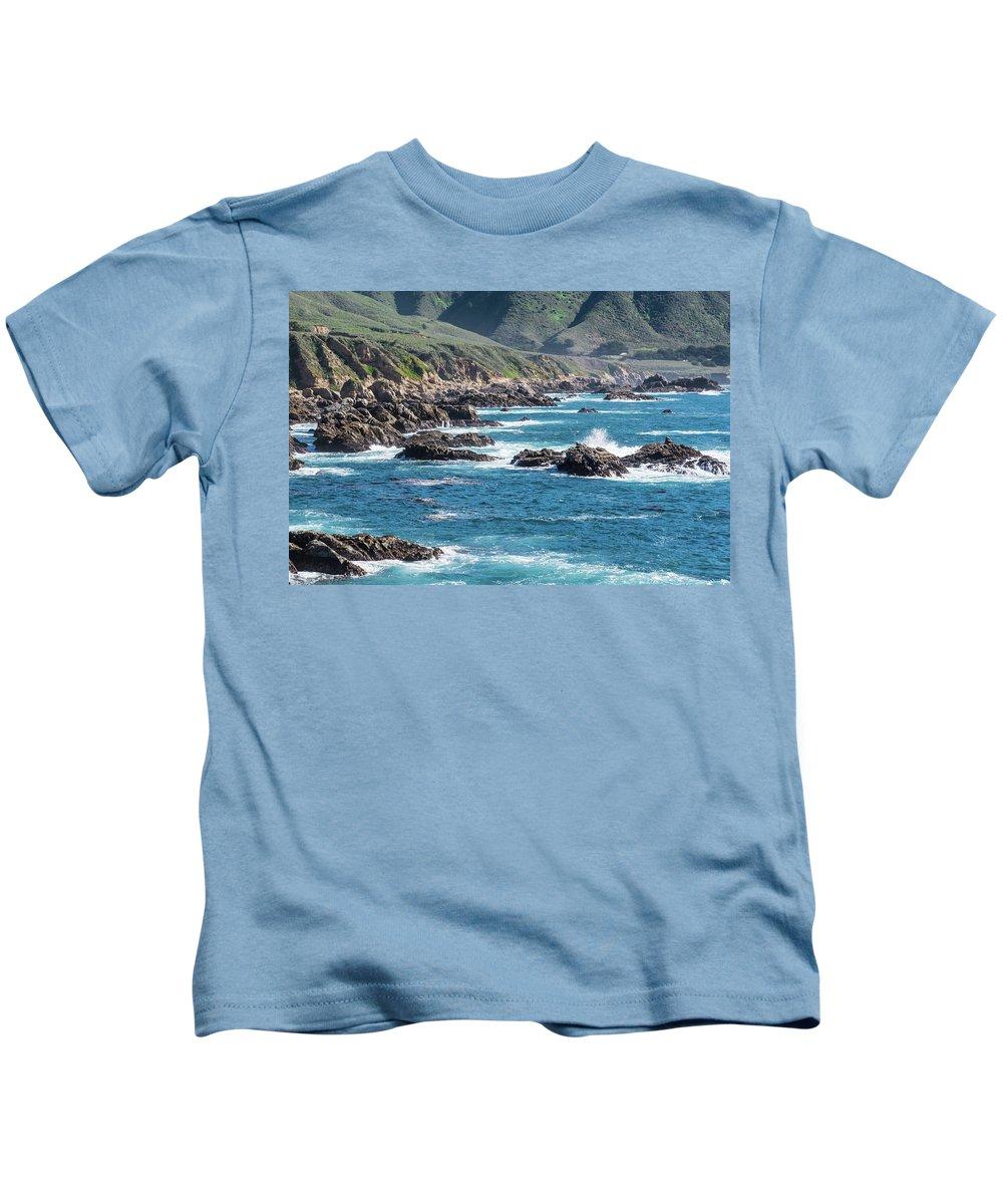 Coastal Kids T-Shirt featuring the photograph Garrapata State Park 2 by David A Litman