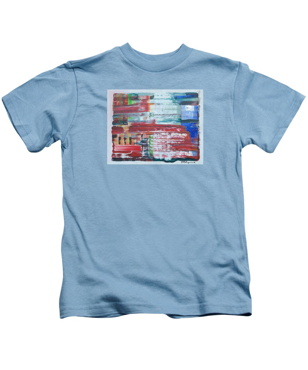 Impressionism Kids T-Shirt featuring the painting Glass Blocks by J R Seymour