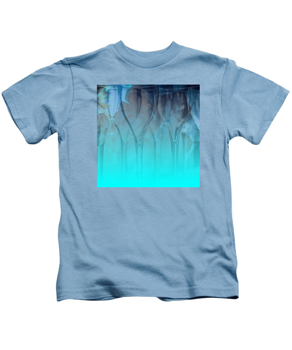 Glasses Kids T-Shirt featuring the digital art Glasses Floating by Allison Ashton