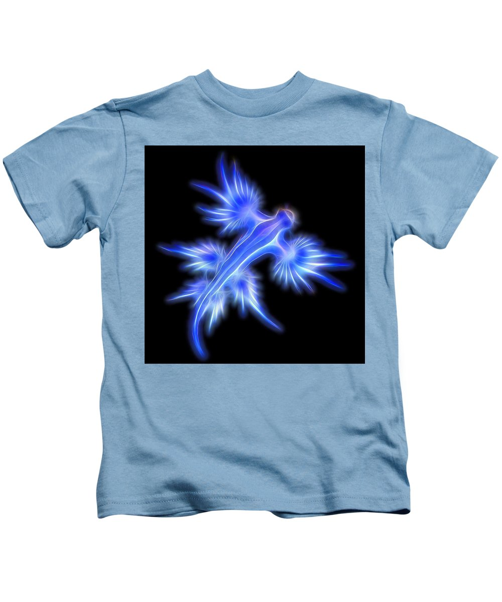 Glaucus Atlanticus Kids T-Shirt featuring the digital art Glaucus Atlanticus 1 by Nicholas Romano