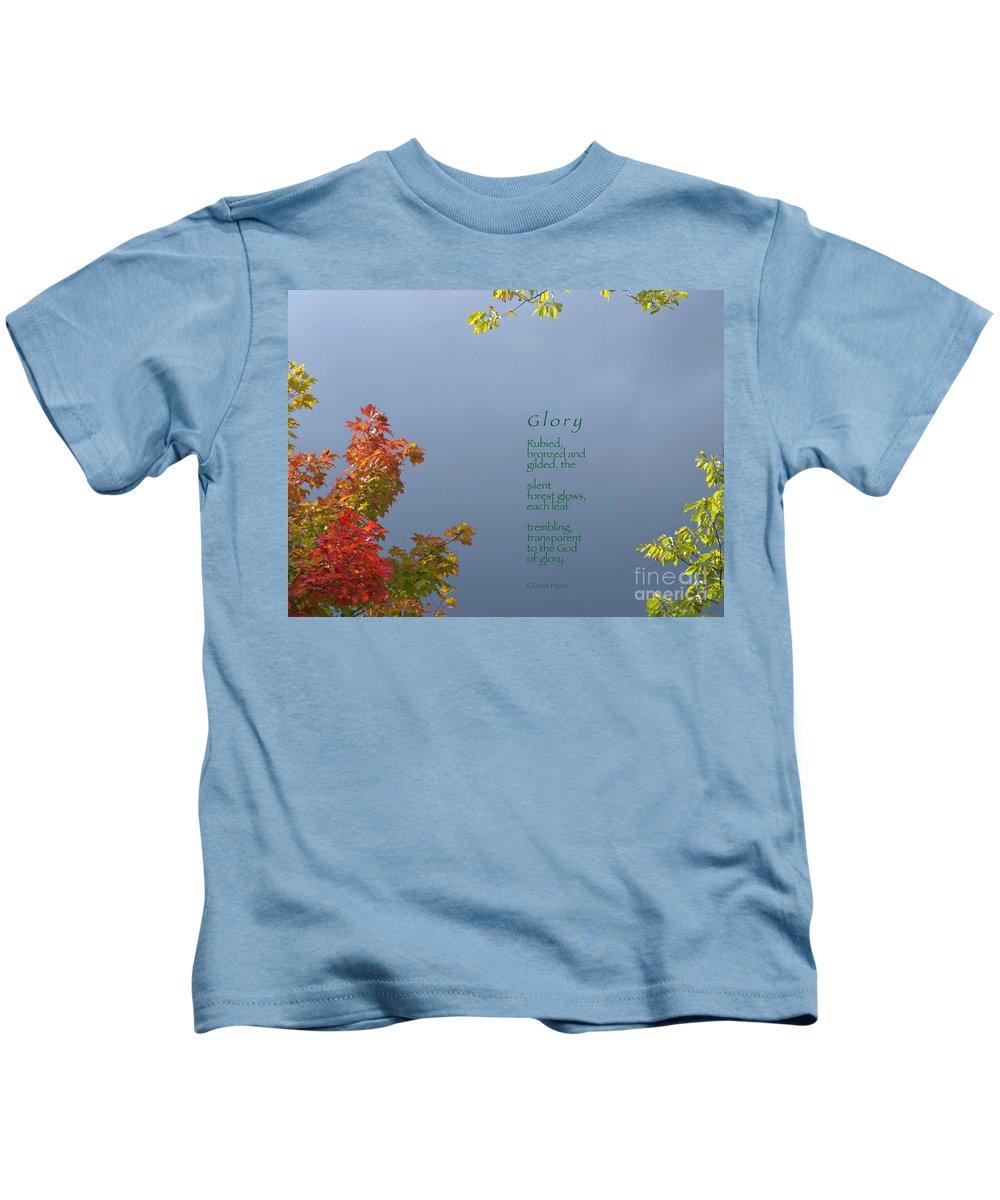 Autumn Kids T-Shirt featuring the photograph Glory by Ann Horn