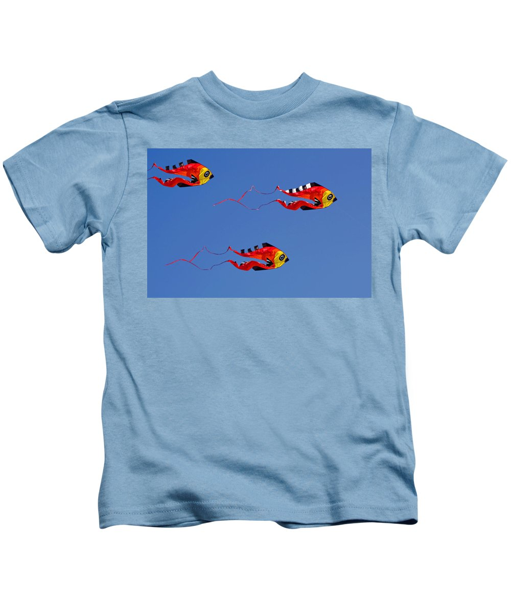 Clay Kids T-Shirt featuring the photograph Go Fly A Kite by Clayton Bruster