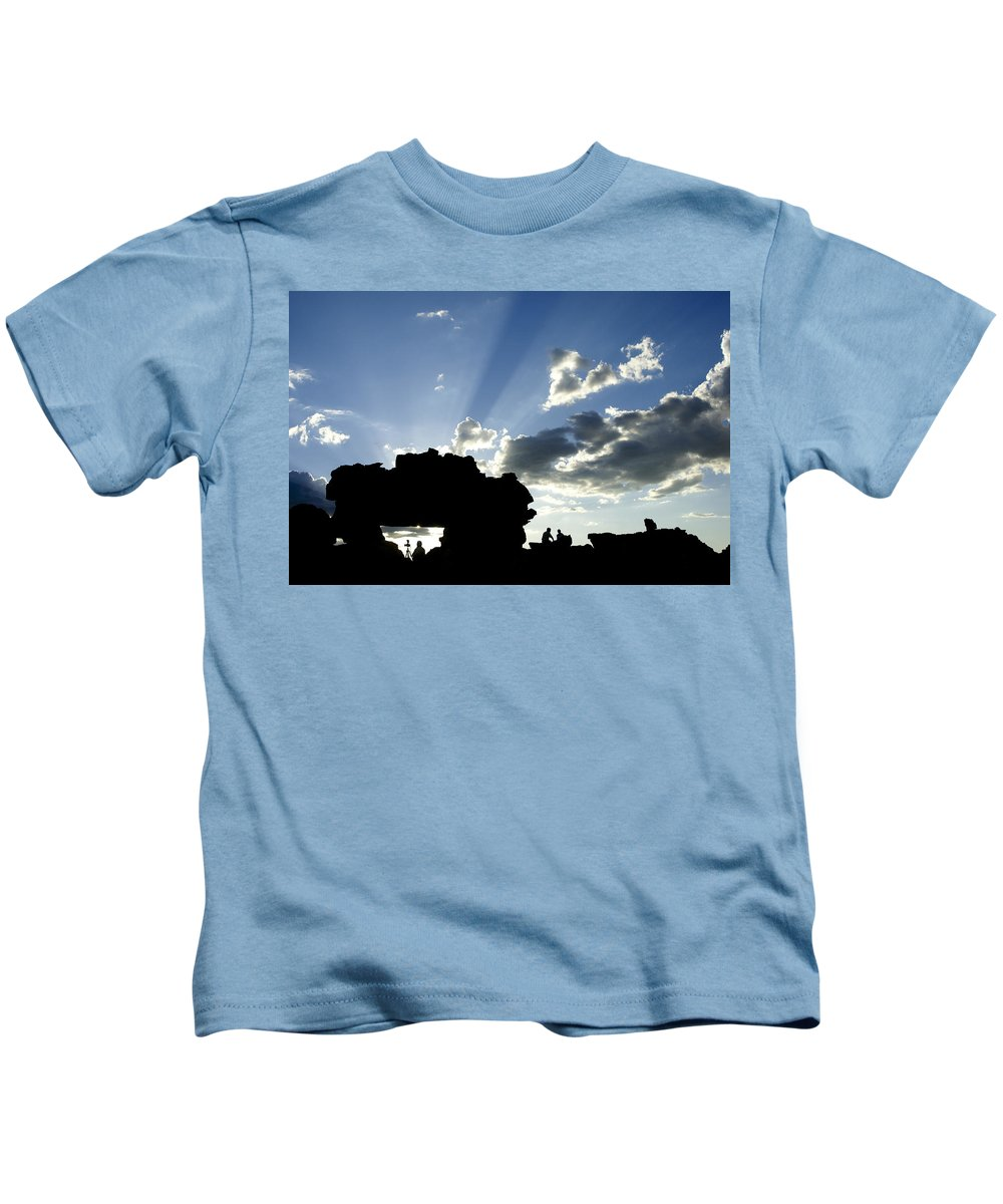 Madagascar Kids T-Shirt featuring the photograph God's Rays At La Fenetre by Michele Burgess