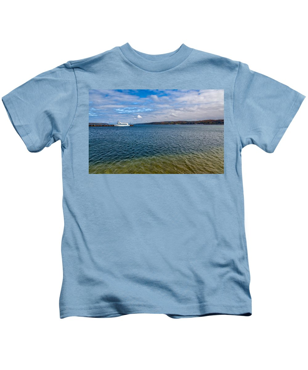 Sky Kids T-Shirt featuring the photograph Grand Harbor On Lake Superior by John M Bailey