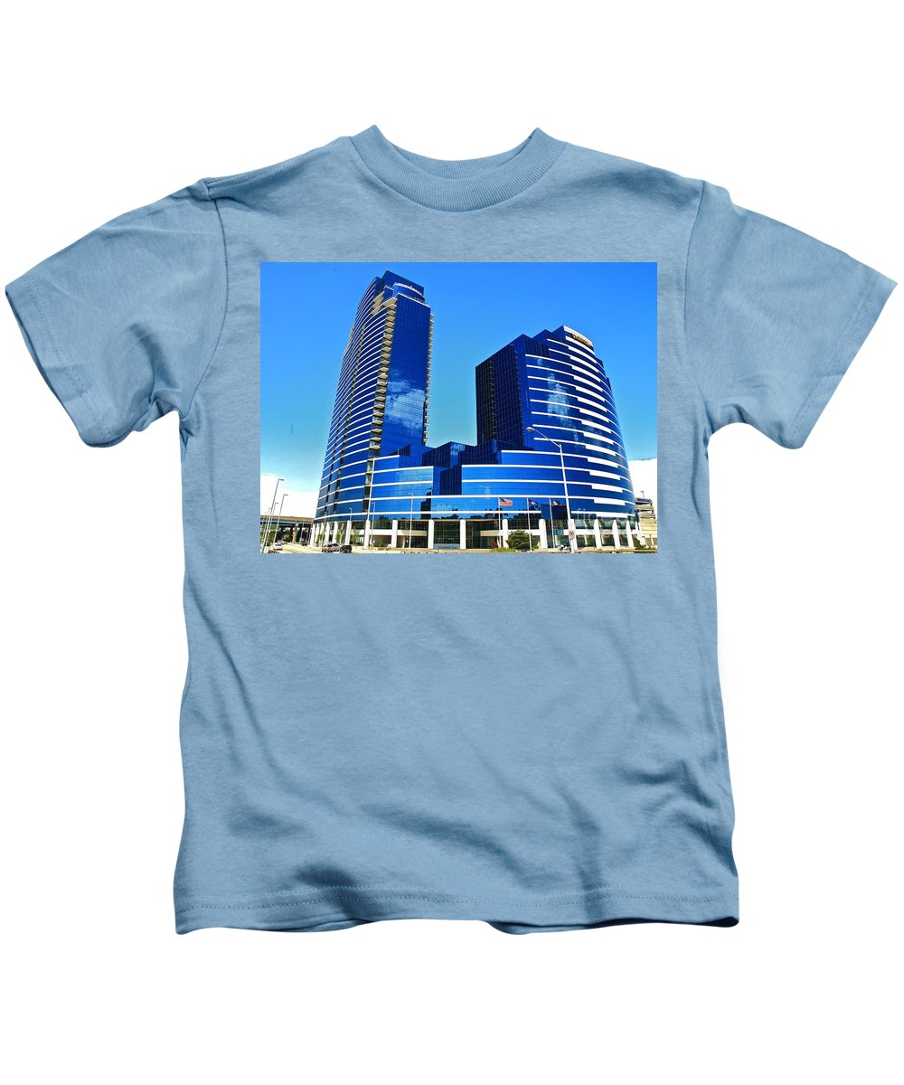 Tags:  West Michigan Photographs Kids T-Shirt featuring the photograph Grand Rapids Mi- 9 Dressed In Blue by Robert Pearson