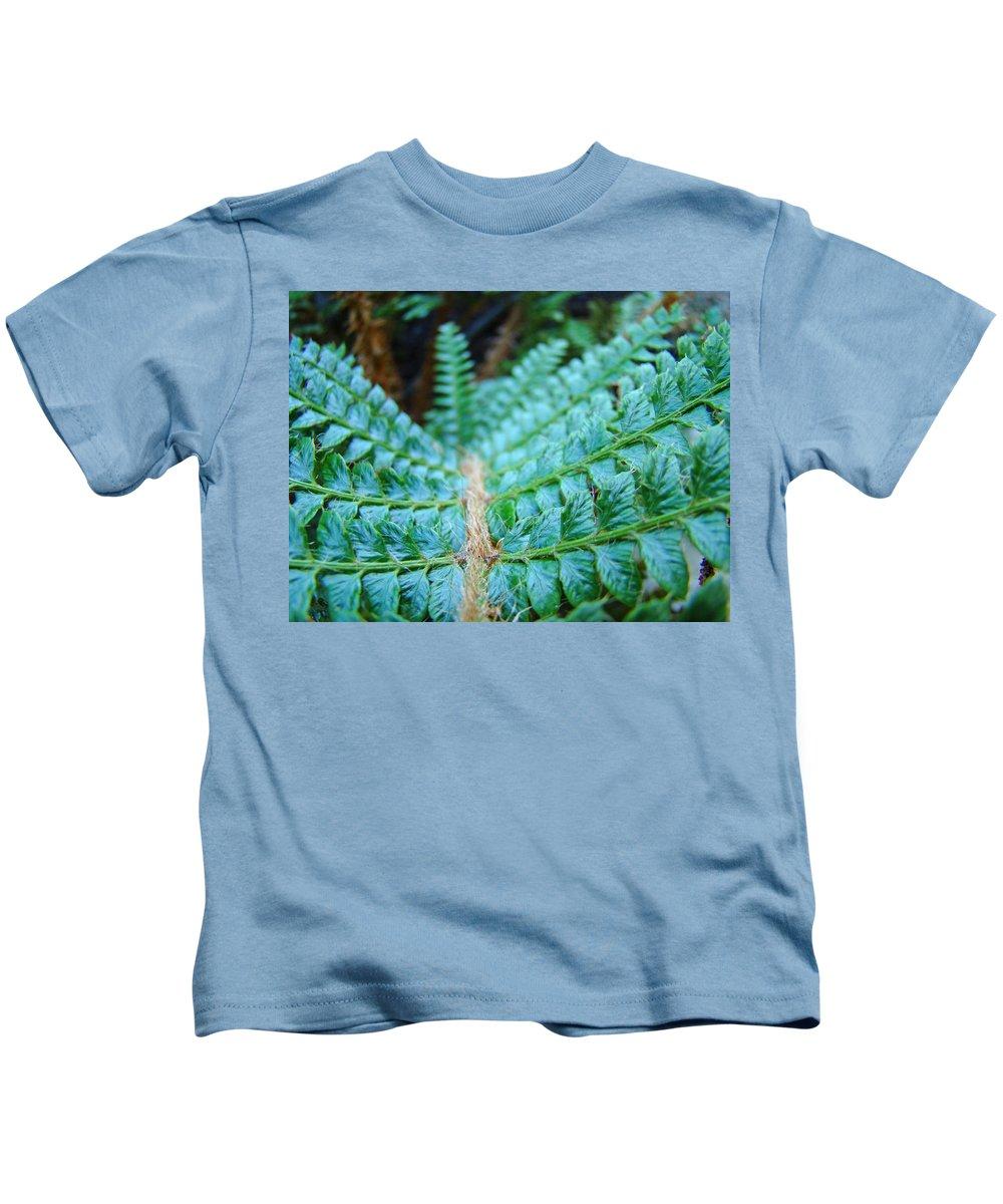 Fern Kids T-Shirt featuring the photograph Green Nature Forest Fern Art Print Baslee Troutman by Baslee Troutman