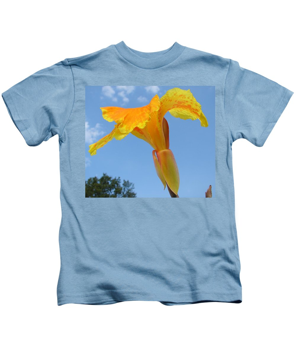 Kids T-Shirt featuring the photograph Happy Canna by Luciana Seymour
