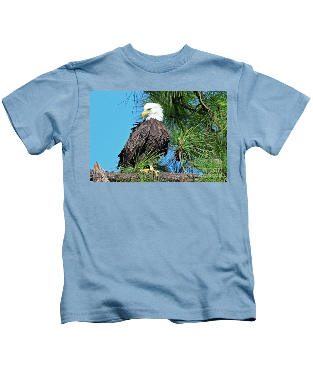 Kids T-Shirt featuring the photograph Harriet One More Look by Liz Grindstaff