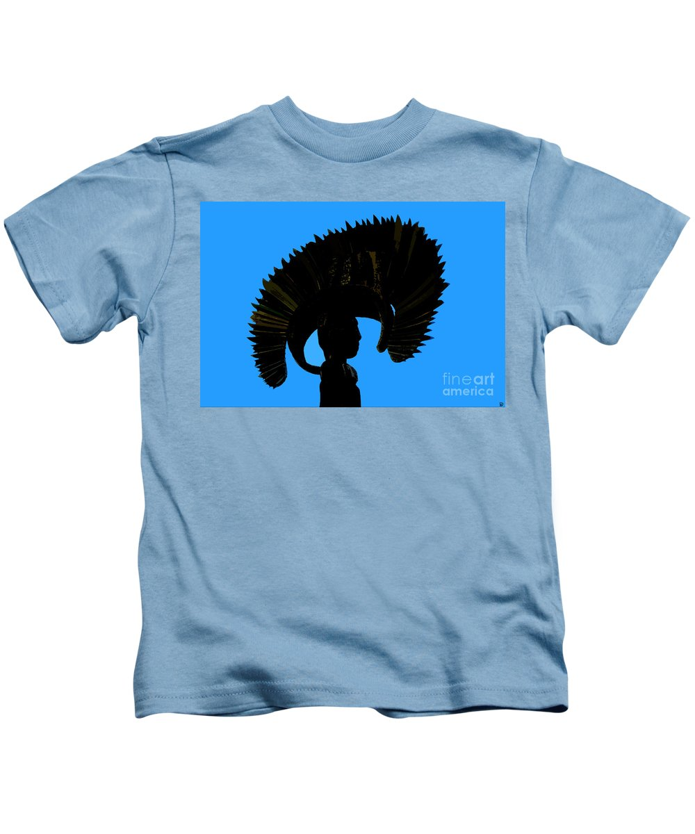 Headdress Kids T-Shirt featuring the painting Headdress by David Lee Thompson