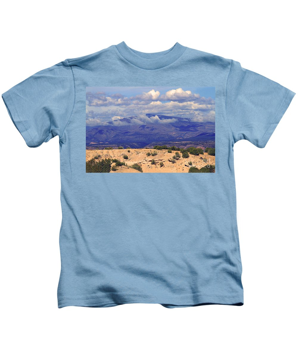 Taos Kids T-Shirt featuring the photograph High Road To Taos Panorama by Catherine Sherman