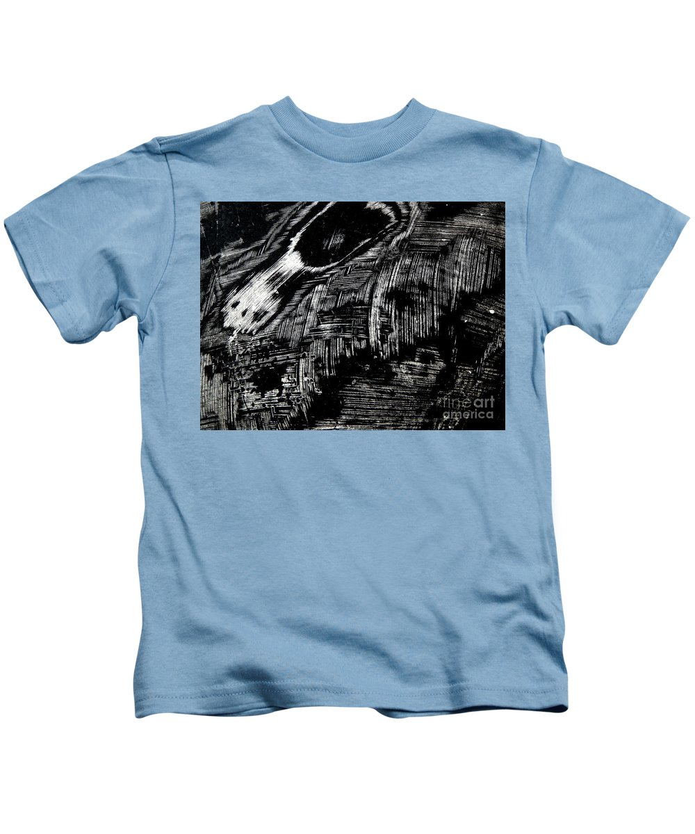 Black And White Photograph .not Manipulated Except To Become Black And White .very Dramatic Kids T-Shirt featuring the photograph Hog Fish Two by Expressionistart studio Priscilla Batzell