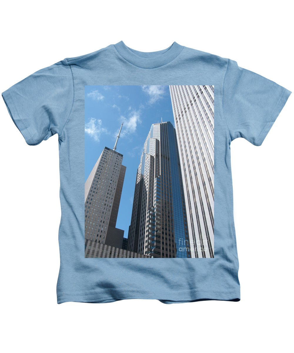 Chicago Kids T-Shirt featuring the photograph How High The Sky by Ann Horn
