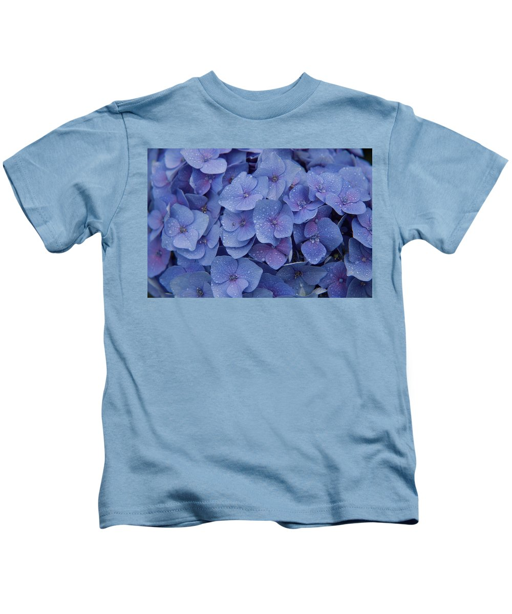 Flowers Kids T-Shirt featuring the photograph Hydrangea Flowers by Jerry McElroy