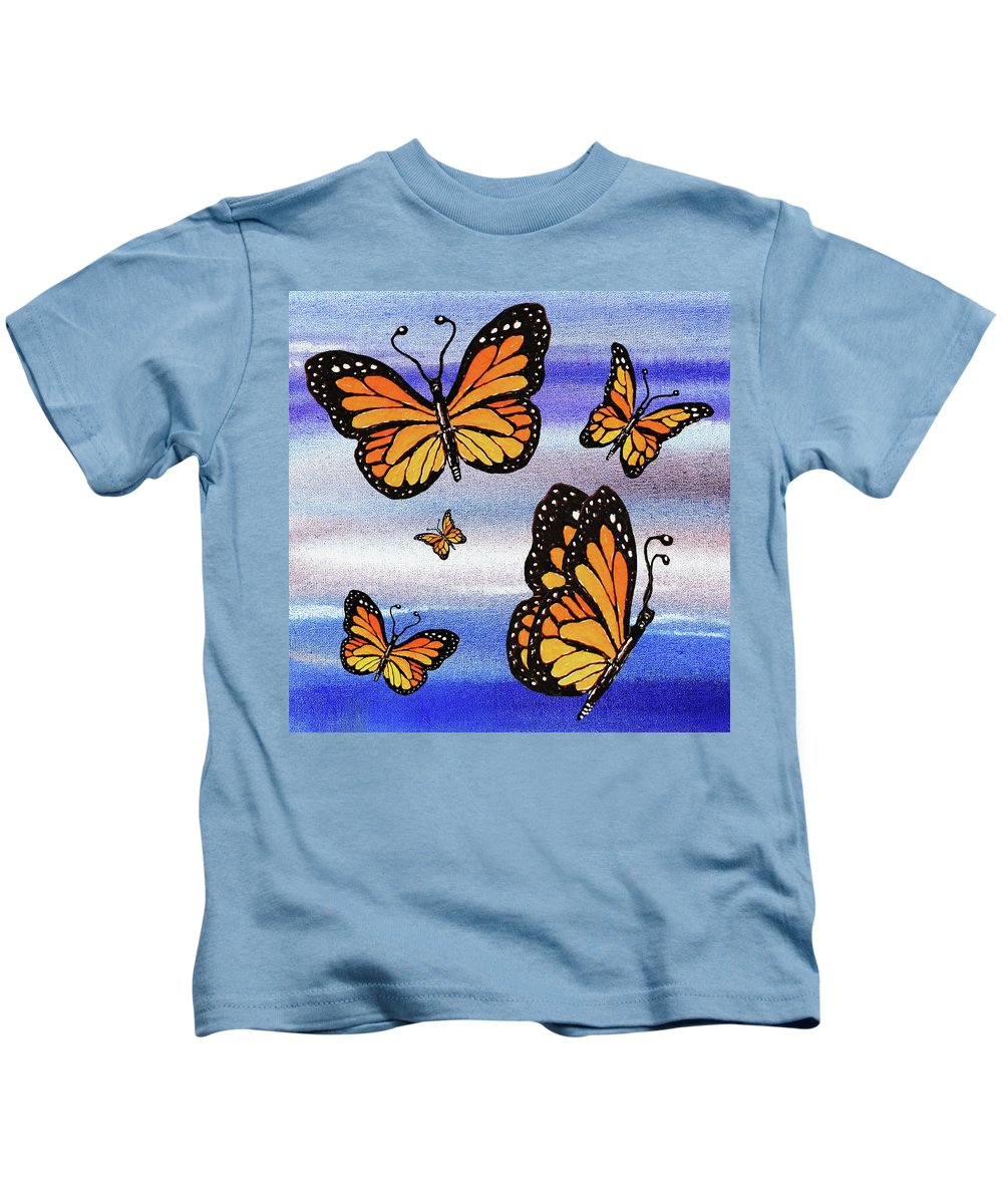 I Believe I Can Fly Kids T-Shirt featuring the painting I Believe I Can Fly by Irina Sztukowski