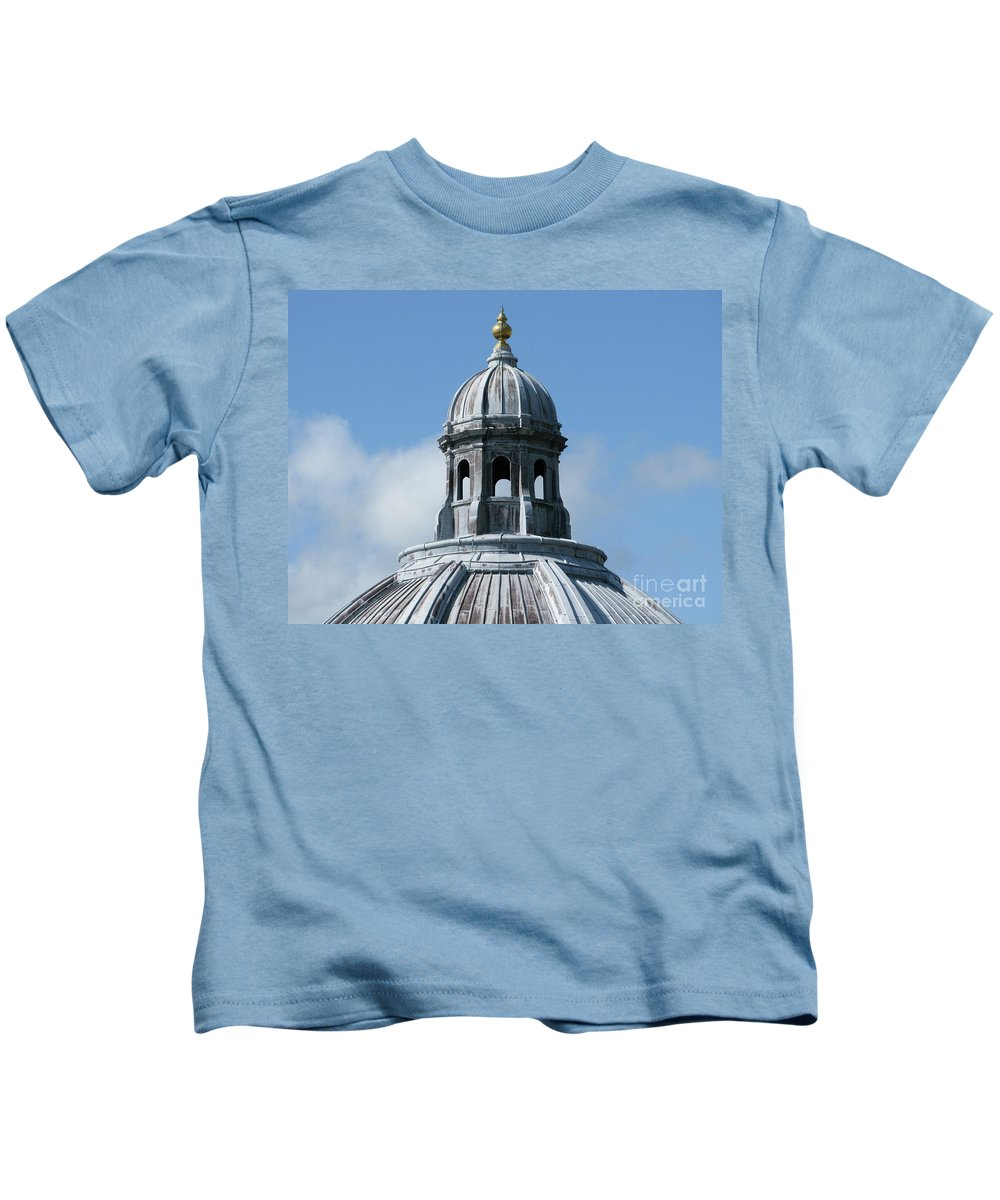 Oxford University Kids T-Shirt featuring the photograph Iconic Dome by Ann Horn