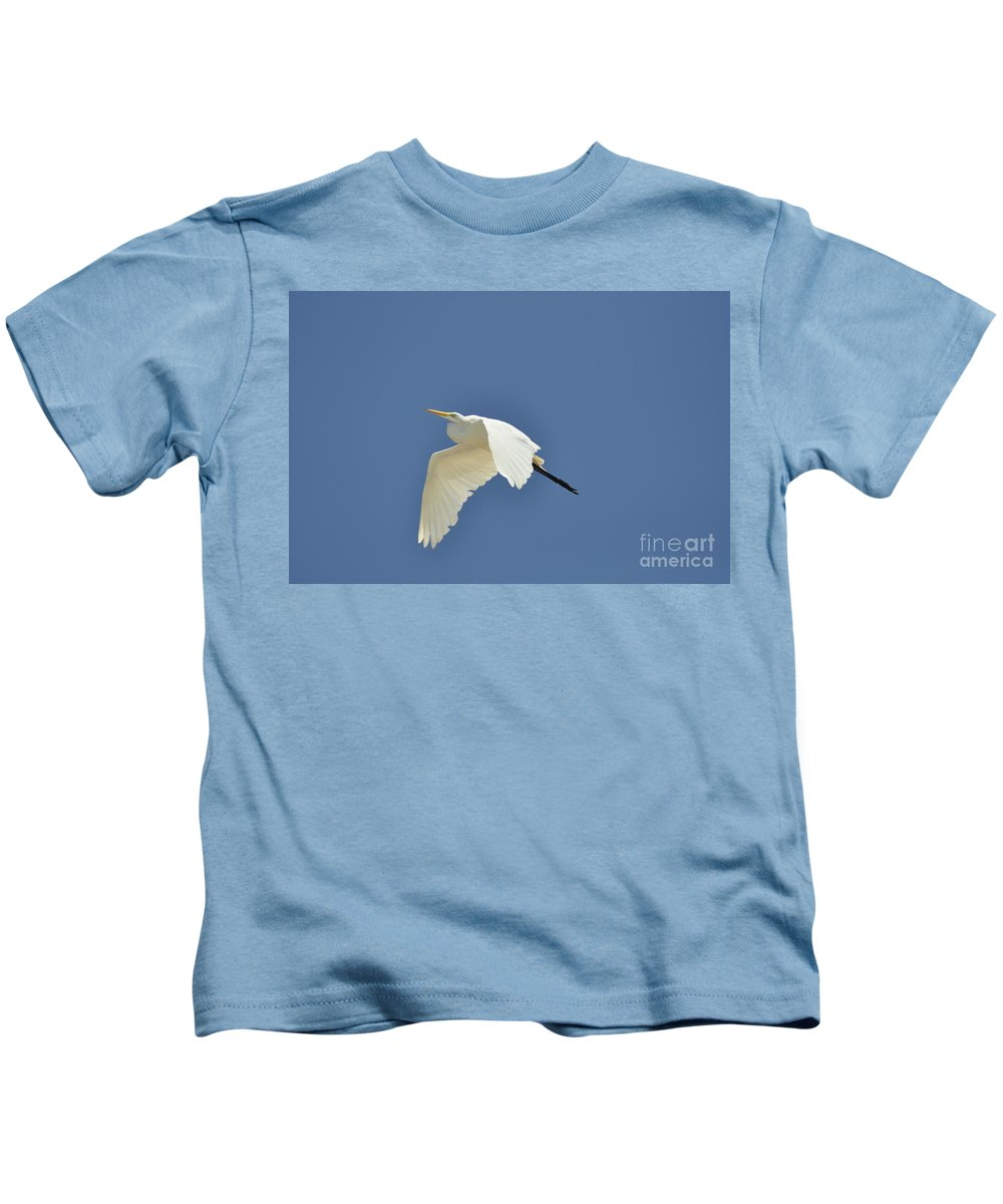 Clay Kids T-Shirt featuring the photograph In Flight by Clayton Bruster