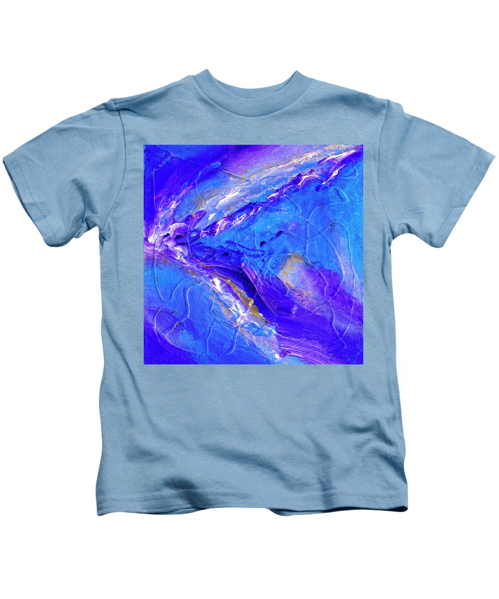 In The Blue Deep Kids T-Shirt featuring the painting In The Blue Deep by Dominic Piperata