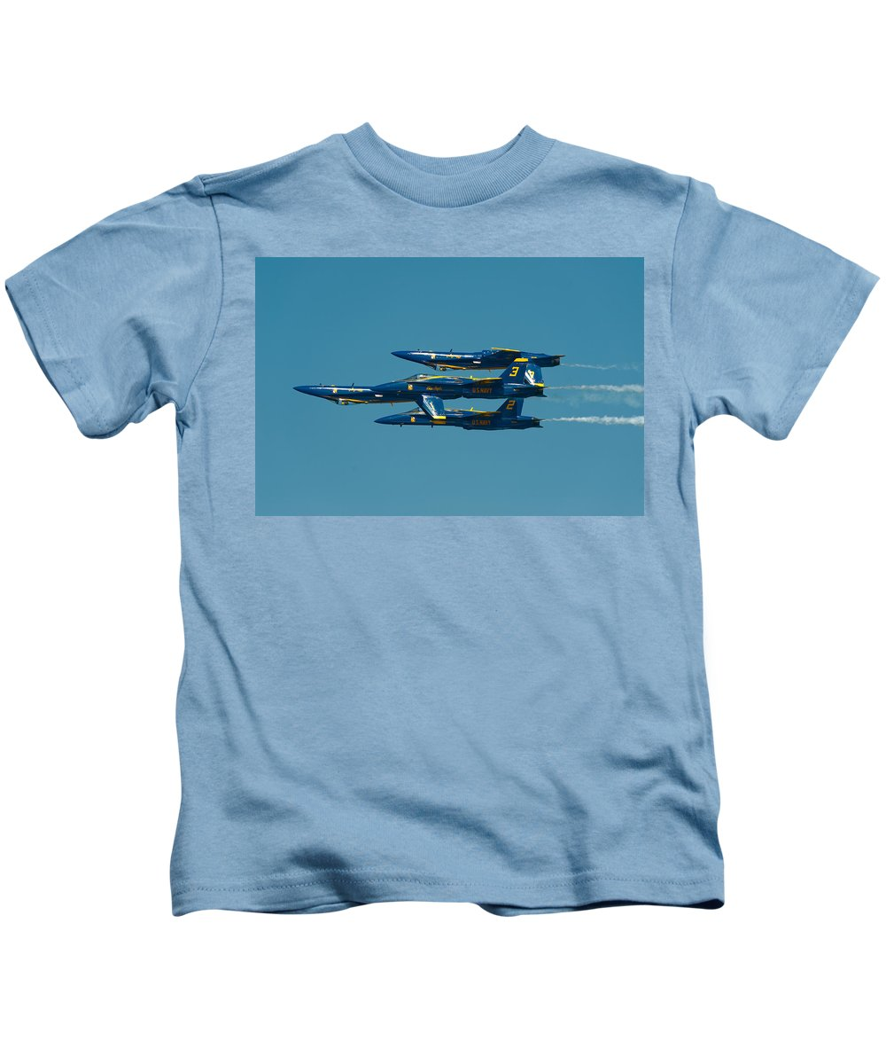 Us Navy Kids T-Shirt featuring the photograph Inverted by Sebastian Musial
