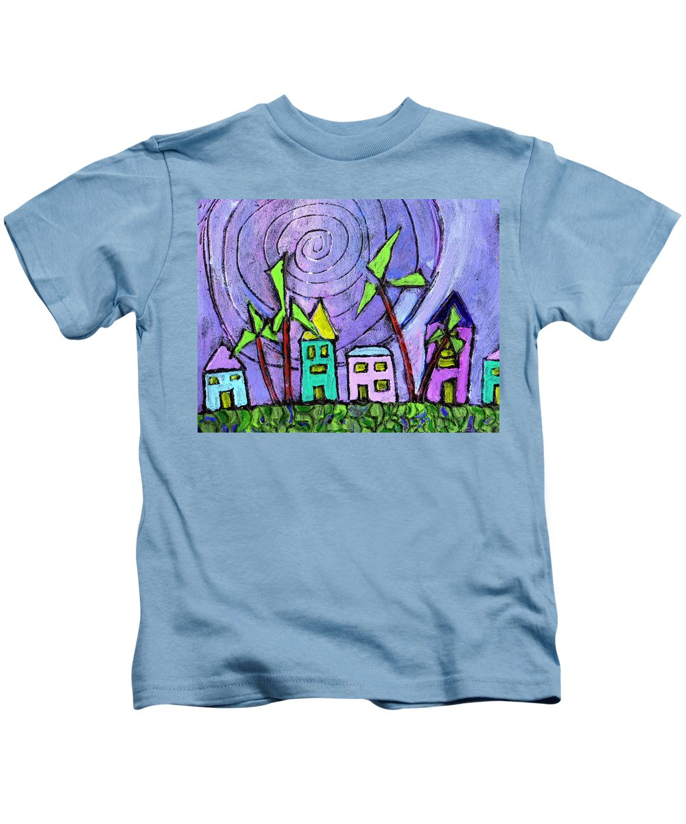 Island Kids T-Shirt featuring the painting Island Dreams by Wayne Potrafka