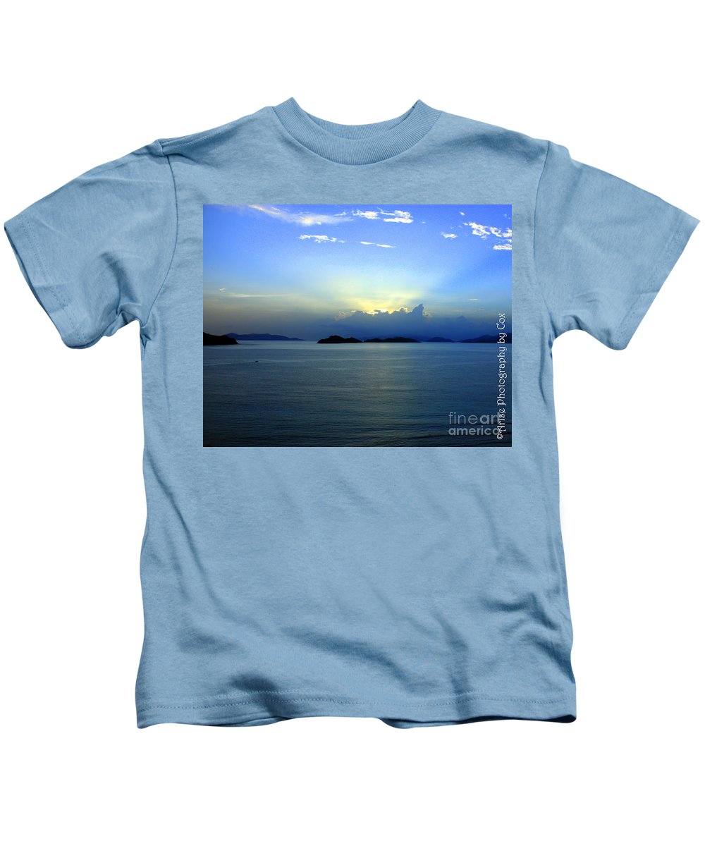 Sunrise Kids T-Shirt featuring the photograph Islands In The Sunrise Tropical Paradise by Charlene Cox