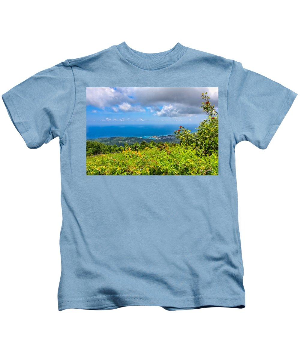 Beach Kids T-Shirt featuring the photograph Jamaican Vista by John M Bailey
