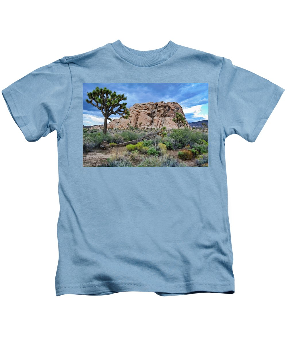 Joshua Tree Kids T-Shirt featuring the photograph Joshua Tree National Park Summer Evening by Kyle Hanson
