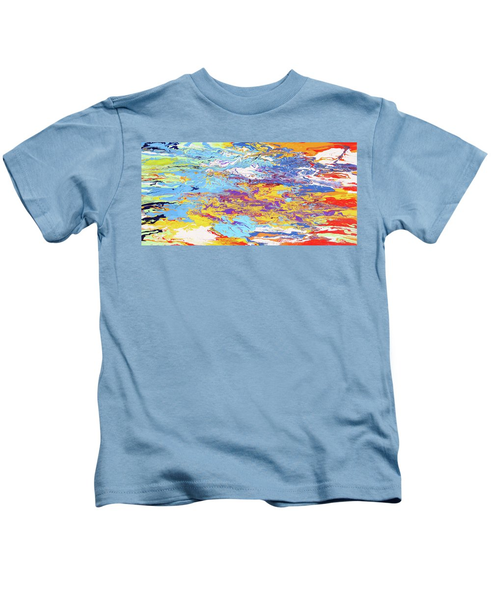 Fusionart Kids T-Shirt featuring the painting Kaleidoscope by Ralph White