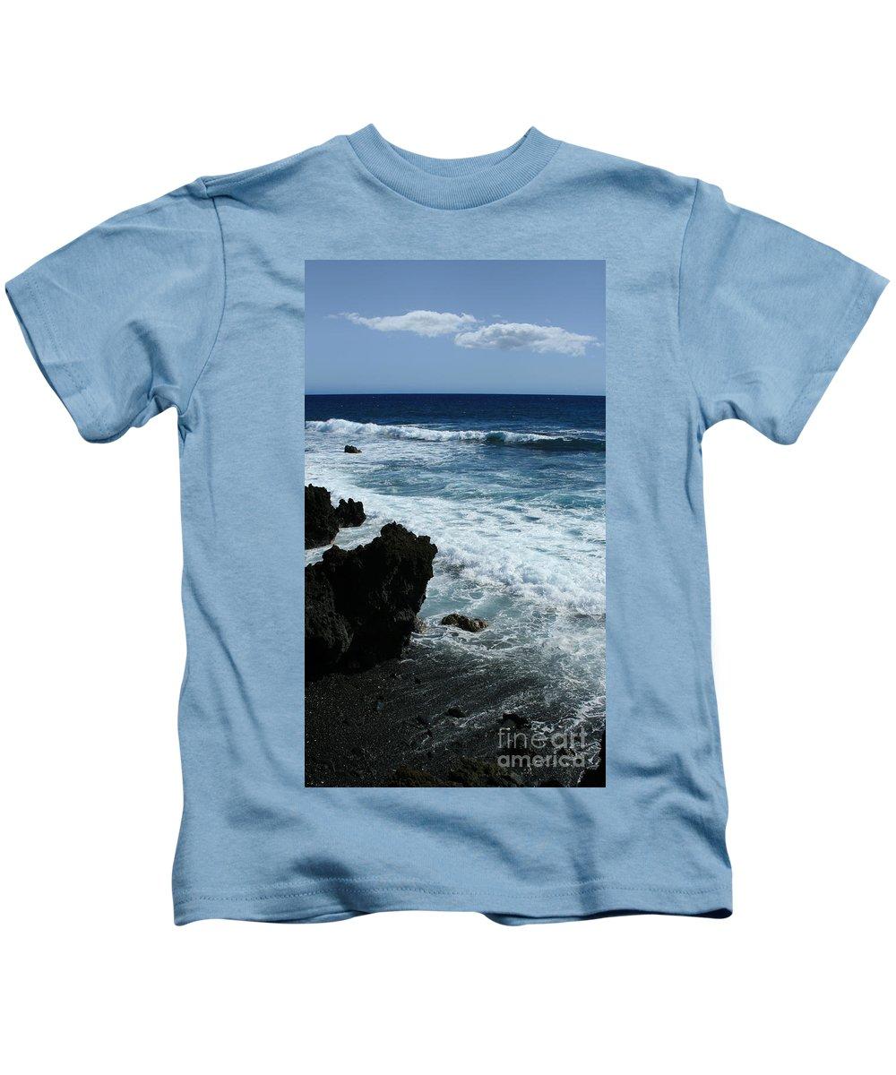 Aloha Kids T-Shirt featuring the photograph Kanaio Ahihi Kinau Maui Hawaii by Sharon Mau