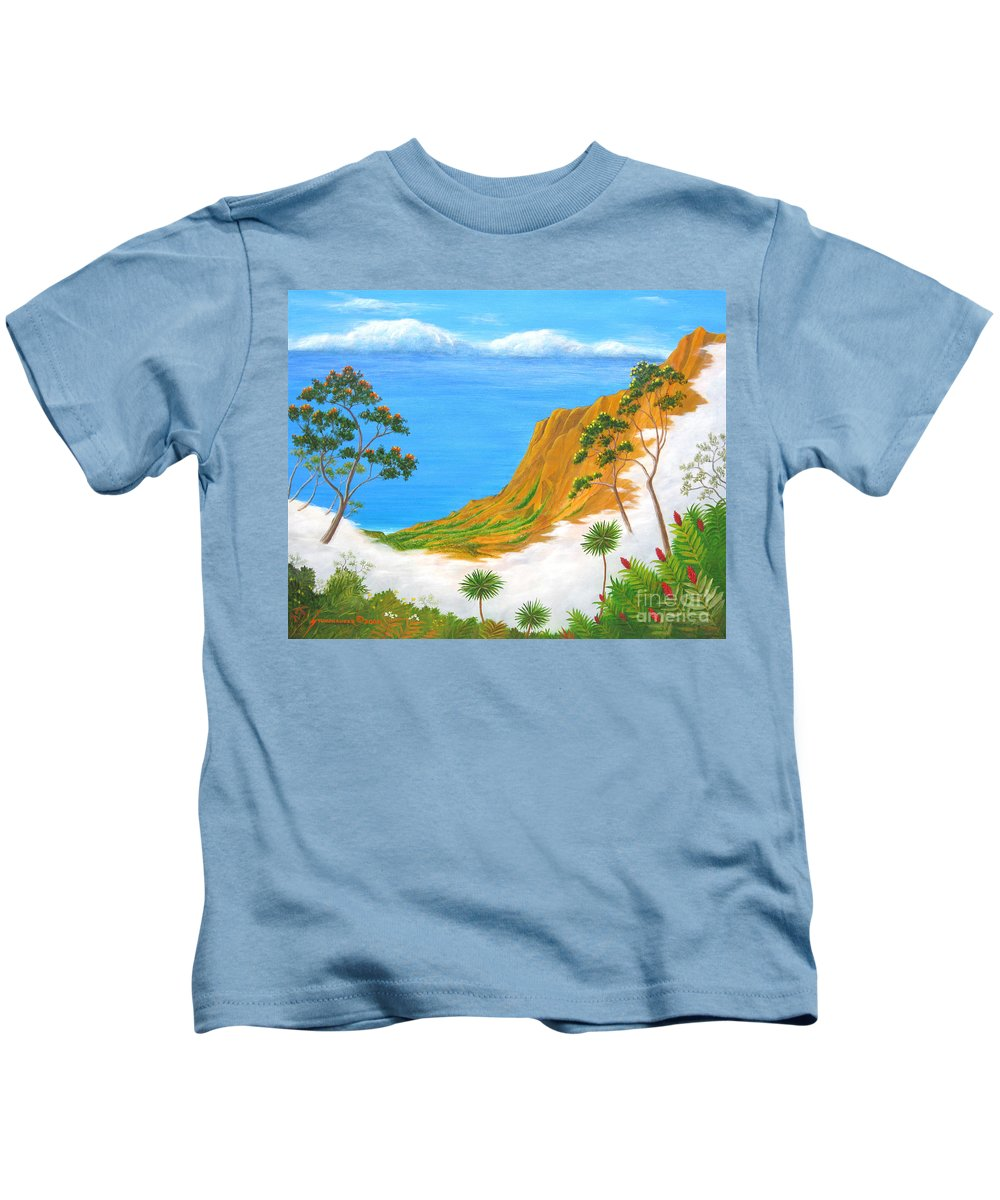 Landscape Kids T-Shirt featuring the painting Kauai Hawaii by Jerome Stumphauzer