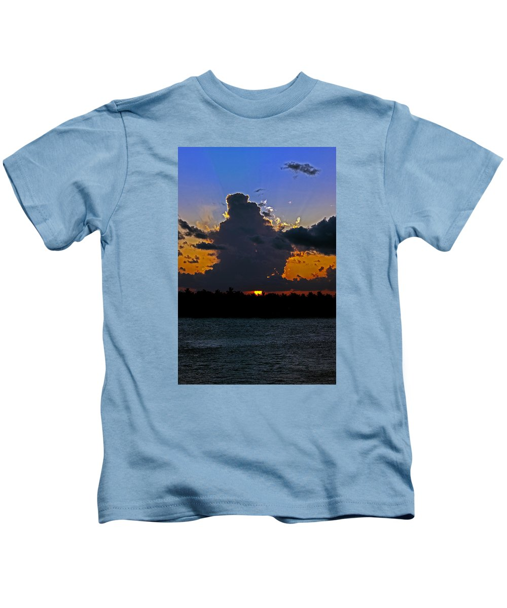 Key West Kids T-Shirt featuring the photograph Key West Sunset Glory by Maria Keady