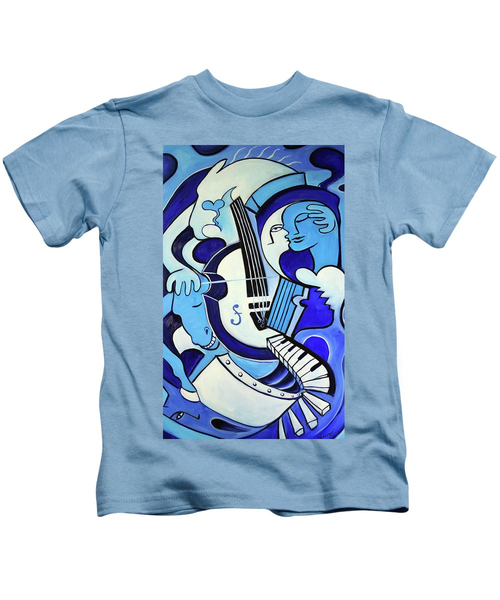Abstract Kids T-Shirt featuring the painting L amour ou quoi 2 by Valerie Vescovi