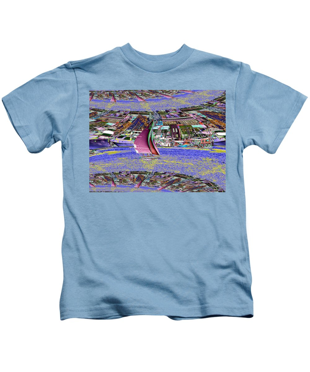 Seattle Kids T-Shirt featuring the photograph Lake Union Sail by Tim Allen