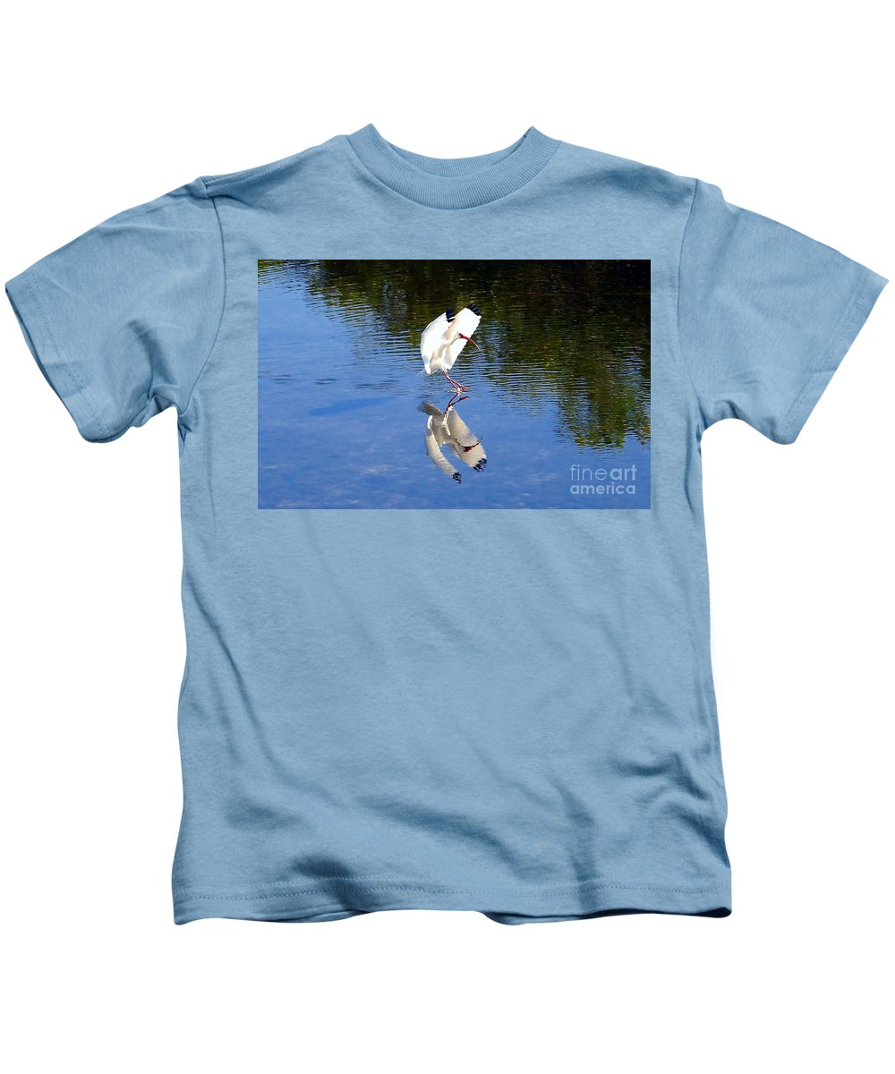 Landing Kids T-Shirt featuring the photograph Landing by David Lee Thompson