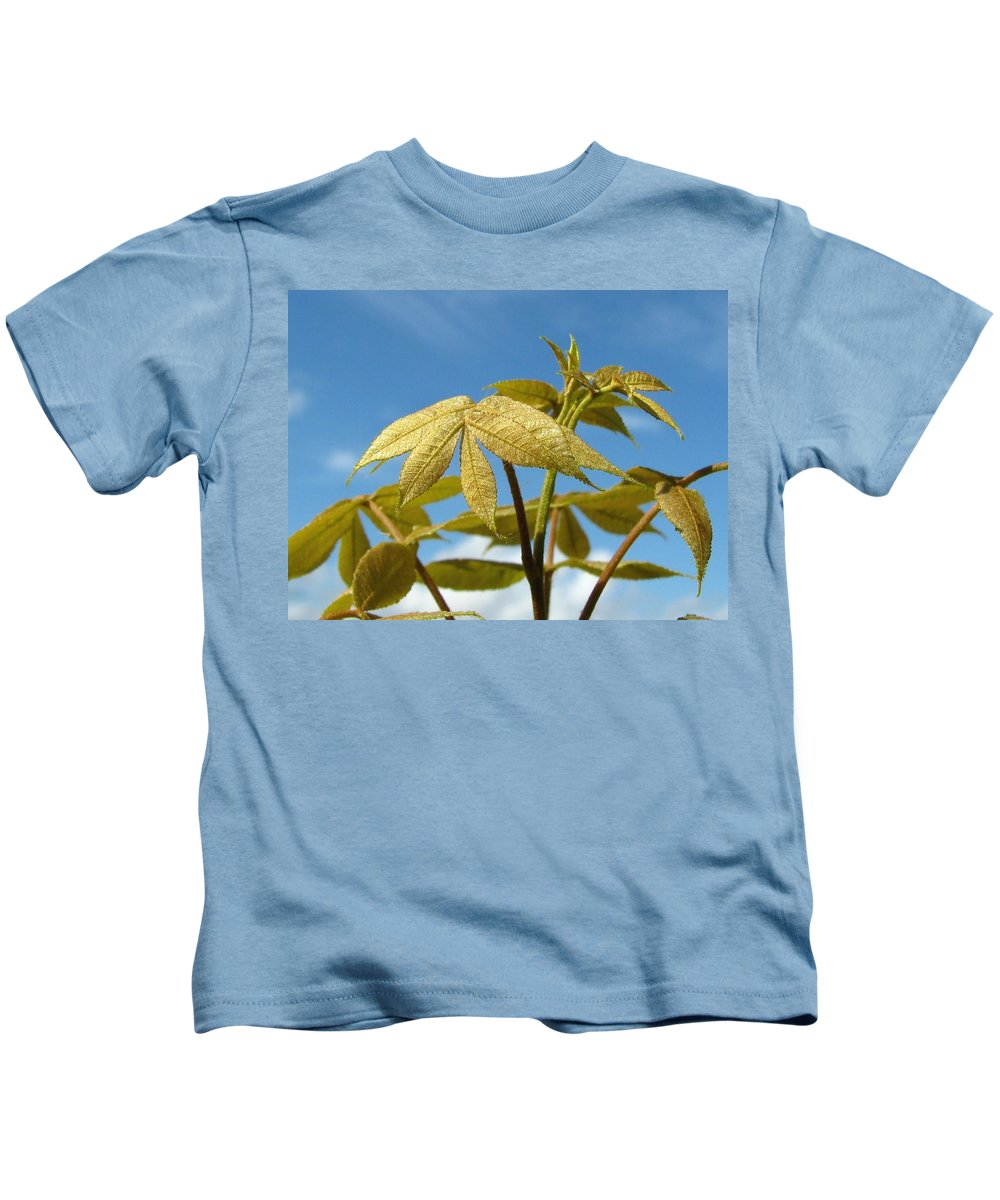 Nature Kids T-Shirt featuring the photograph Leaves Of Gold by Peg Urban