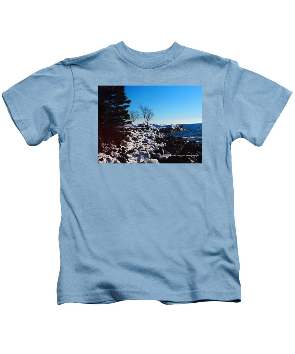 Lighthouse Kids T-Shirt featuring the photograph Lighthouse Point by Diane Shirley
