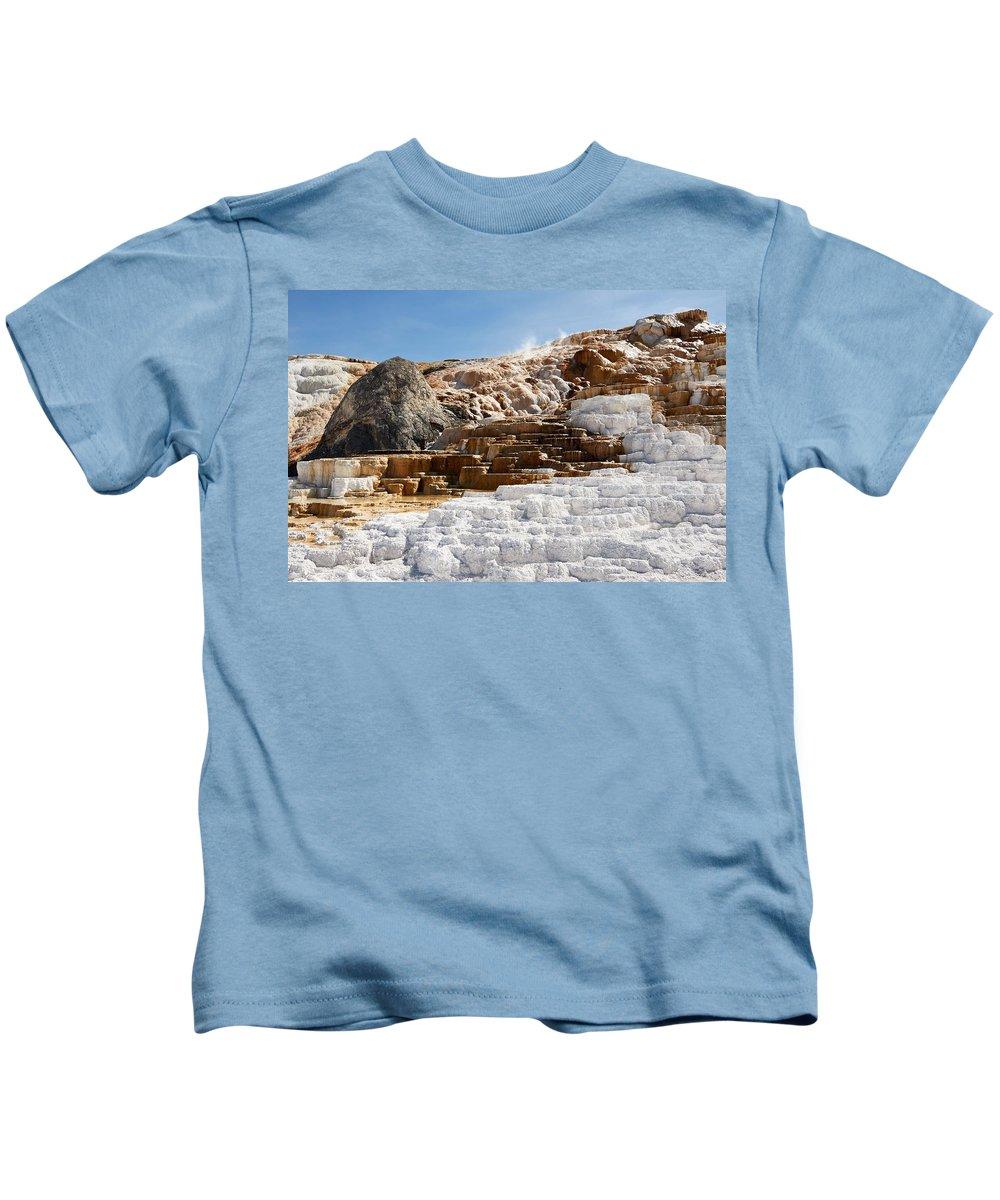Limestone Kids T-Shirt featuring the digital art Limestone by Dorothy Binder